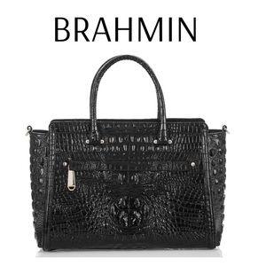 Brahmin Harper Satchel Black